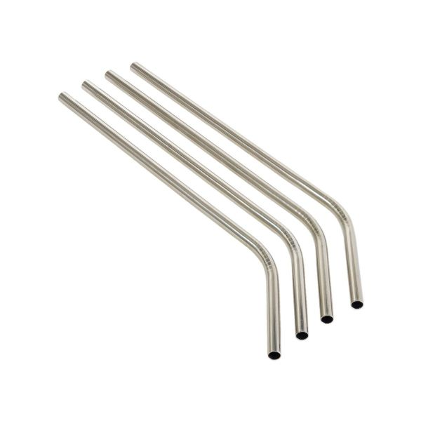 ANGLED Stainless Steel Drinking Straws (8mm x 215mm)